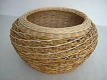Košíky - Košík z pedigu a vodného hyacintu - 5748972_