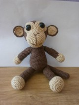 Hračky - Háčkovaná opička - 5749666_