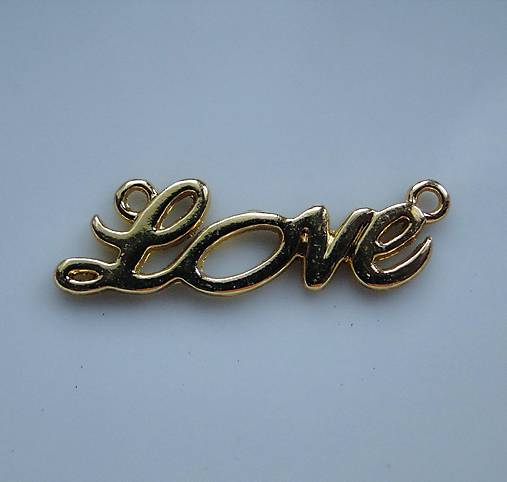 "Kov.medzikus ""Love""-zlatá-1ks"