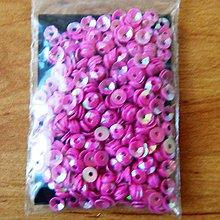 Korálky - Flitre lomené ružové 4mm - 5748449_