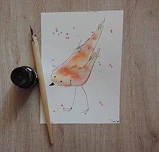 Kresby - Orandžovo-žltý vtáčik II. - 5750335_