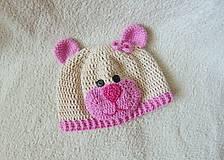 Detské čiapky - Čiapka macko pre novorodeniatko :) - 5752061_