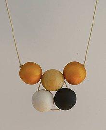 """Náhrdelníky - náhrdelník """"minimal 1"""" - drevo maľované akrylom - 5753922_"""