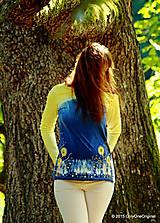 Dámske tričko batikované a maľované BABIE NEBO