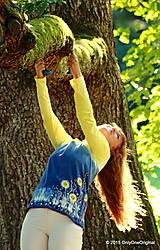 Tričká - Dámske tričko batikované a maľované BABIE NEBO - 5752487_