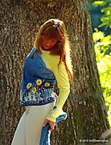 Tričká - Dámske tričko batikované a maľované BABIE NEBO - 5752488_