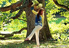 Tričká - Dámske tričko batikované a maľované BABIE NEBO - 5752495_