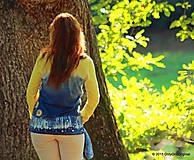 Tričká - Dámske tričko batikované a maľované BABIE NEBO - 5752497_