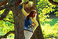 Tričká - Dámske tričko batikované a maľované BABIE NEBO - 5752515_