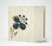 Krabičky - Kvetinový stojan na servítky (folklórny) - 5751869_