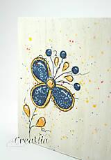 Krabičky - Kvetinový stojan na servítky (folklórny) - 5751873_