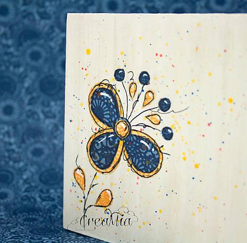 Kvetinový stojan na servítky (folklórny)