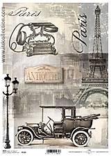 - ryžový papier Vintage motív - 5753374_