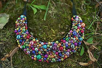 Náhrdelníky - Perličky explózia farieb - 5753509_
