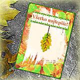 Papiernictvo - Jesenný list - pohľadnica a darček - 5753027_