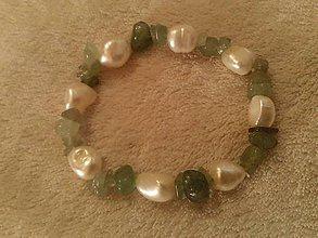Náramky - Náramok avanturín, riečne perly. - 5756818_
