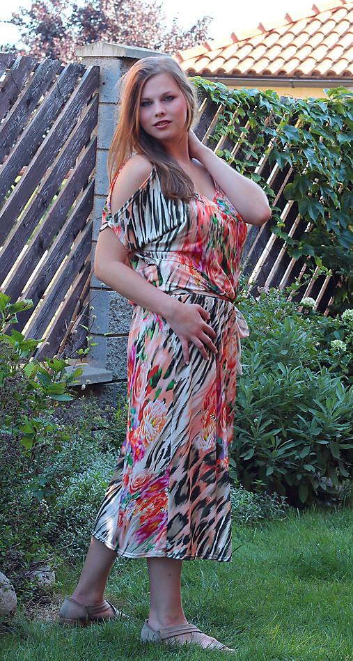 Dlouhé šaty na ramínka   ladeesse - SAShE.sk - Handmade Šaty 3e05965791
