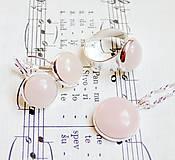 Rose Quartz & Silver Set