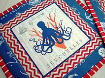 Úžitkový textil - Sea Animals in  Blue -  2 ks - 5755741_