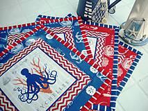 Úžitkový textil - Sea Animals in  Blue -  2 ks - 5755745_