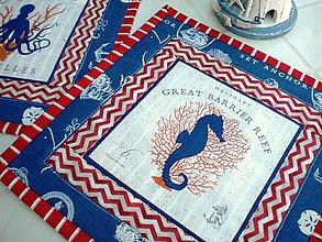 Úžitkový textil - Sea Animals in  Blue -  2 ks - 5755743_