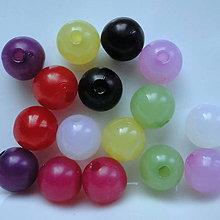 Korálky - Korálky MILK plast 10mm - 5754853_