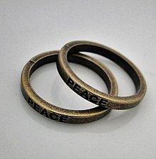 Komponenty - Kov.krúžok 21mm-1ks (PEACE-st.bronz) - 5755040_