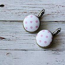 Náušnice - Náušnice na francúzskych háčikoch Pink dots - 5756105_