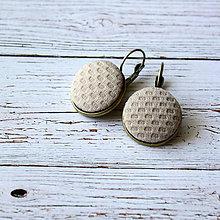 Náušnice - Náušnice na francúzskych háčikoch Púdrové - 5756131_