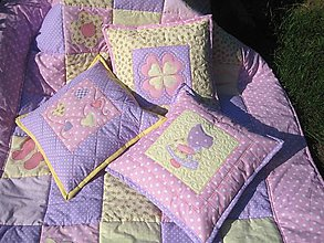 Úžitkový textil - motýle a kvety 2 - 5754603_