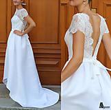 Šaty - Svadobné šaty s holým chrbátom - 5756492_