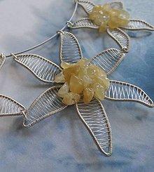 Náhrdelníky - Hviezdy na nebi - náhrdelník z postriebreného drôtu - 5755750_