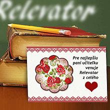 Papiernictvo - Kvet pre učiteľku - pohľadnica pre... - 5755401_