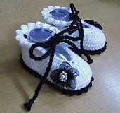 Topánočky - Papučky s kvetinkou - 5759258_