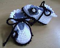 Topánočky - Papučky s kvetinkou - 5759259_
