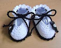 Topánočky - Papučky s kvetinkou - 5759260_