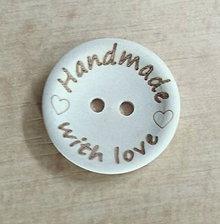 Galantéria - Gombík Handmade with love - 5759288_