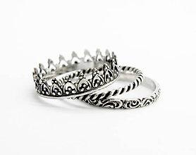 Prstene - sada strieborných prsteňov Queen - 5760320_