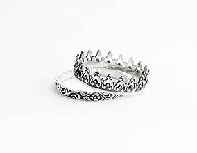 Prstene - sada strieborných prsteňov Malika - 5760398_