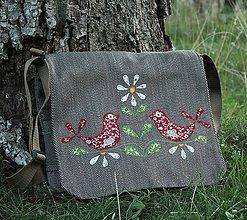 Veľké tašky - Folkové vtáčence - 5757722_