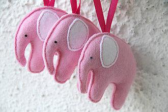 Dekorácie - Sloníci v ružovom - na objednávku - 5758388_