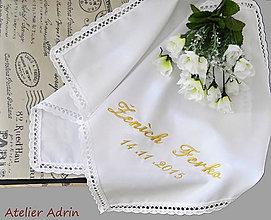 Iné doplnky - svadobné podbradníky vyšívané - 5759395_