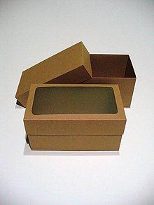 Krabičky - prírodná hnedá s okienkom (alebo bez) - 5763498_