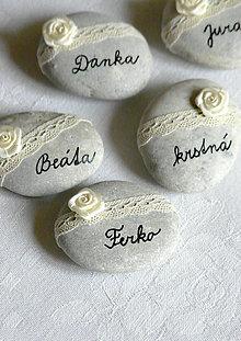Darčeky pre svadobčanov - Menovky skalné sivasté - 5763428_