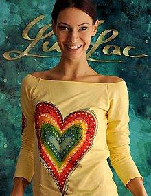 Tričká - Žlté tričko so srdiečkom - Dobrosrdečné - 5761615_