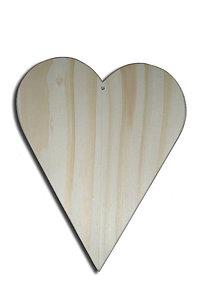 Polotovary - Drevené masívne srdce 14 cm - 5762830_