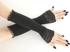 Rukavice - Dámské čierné rukavičky 0835V - 5766750_