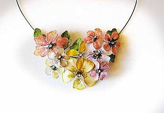 Náhrdelníky - slnečné flowers - 5766035_