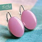 Náušnice - Ledově růžové - stříbro - 5765495_