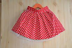Detské oblečenie - Detská suknička-červená bodka - 5764933_